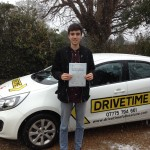 Ellis Morgan passed his Driving test after driving lessons in Folkestone.