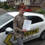 Joel passed driving test